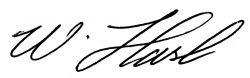 Unterschrift Walter Hasl