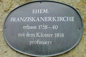 franziskanerkirche aussen p 300x200 - Franziskanerkloster