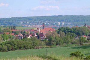 Ansicht der Stadt Ellingen